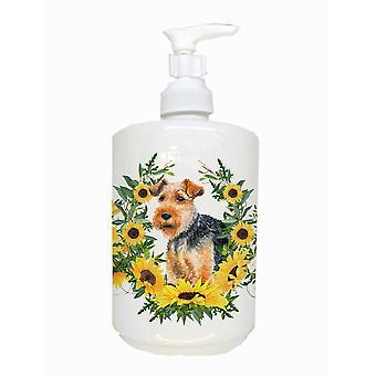 Carolines Treasures  CK2892SOAP Welsh Terrier Ceramic Soap Dispenser