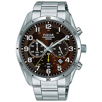 Pulsar active Quartz Analog Man Watch with PT3843X1 Stainless Steel Bracelet