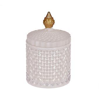 Vela perfumada en tarro de vidrio con tapa