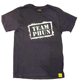 Team phun stencil logo tee shirt black