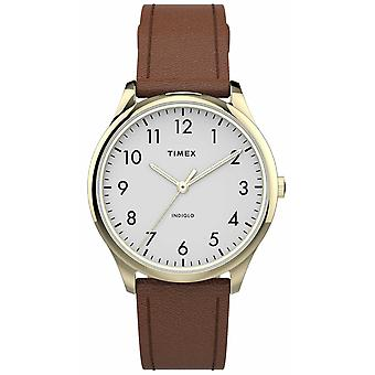 Timex | Easy Reader 32mm | Tan Leather Strap | White Dial | TW2T72300 Watch