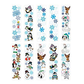 100 Mini Christmas Winter Sticker Sheets for Kids Crafts
