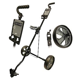 Glide Tek 1.0 Push Steel Golf Trolley Gunmetal/Schwarz