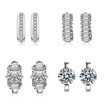 925 Sterling Silver Huggie Hoop Earrings Various Designs
