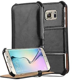 Hülle für Samsung Galaxy S6 Edge Klappbare Handyhülle - Cover - mit Standfunktion und Eckhalterung