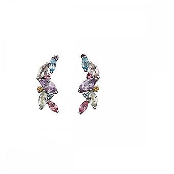 Elements Gold White Gold Pastel Re-Colour Earrings GE2153