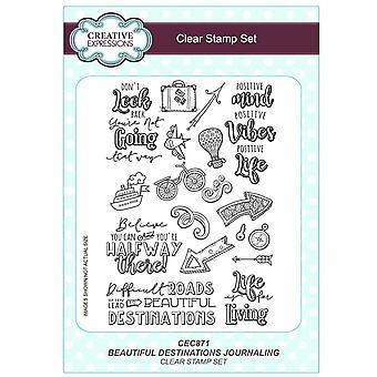 Expressions créatives A5 Clear Stamp Set - CEC871 Jffs2 - belles Destinations