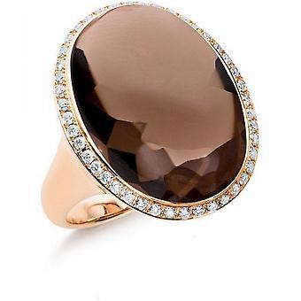 Gemstone Ring Diamonds 0.35ct. Quartz 19.8 ct. Size 53
