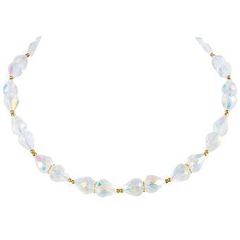 Eterna colección sofisticación Aurora Borealis cristal oro tono collar