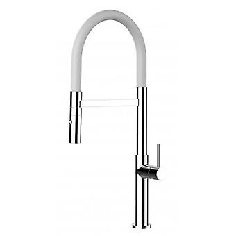 Kitchen Single-lever Sink Mixer Avec Spout blanc et 2 Jets Shower - 48cm High - 485