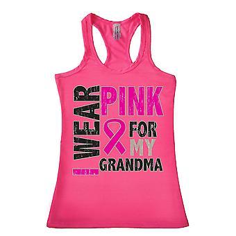 Tank Top damskie Racer tył nosić różowe, dla mojej babci