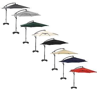 Charles Bentley Hanging Banana Patio Garden Umbrella Parasol-Free Standing in Various Colours-3M