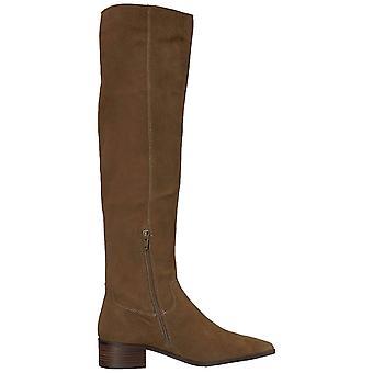 Lucky Brand mulheres Kitrie tecido apontou Toe joelho botas de alta moda