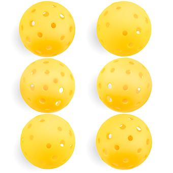 6-Pack of Pickleball Balls, Goldenrod Yellow