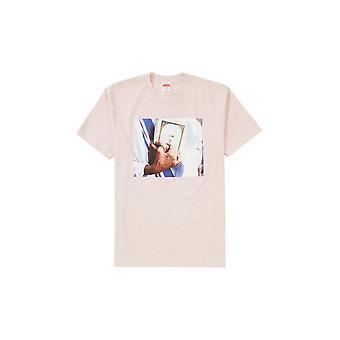 Supreme Bible Tee Heather Light Pink - Clothing