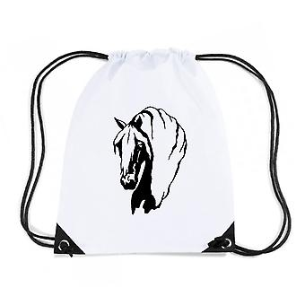 Zainetto bianco fun1891 horses horse animal