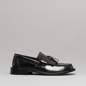 Blakeseys Scooter Mens Leather Tassel Loafers Black
