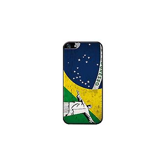 Hull Made In France Flag Brazil And Statue Of Christ For Apple IPhone 5