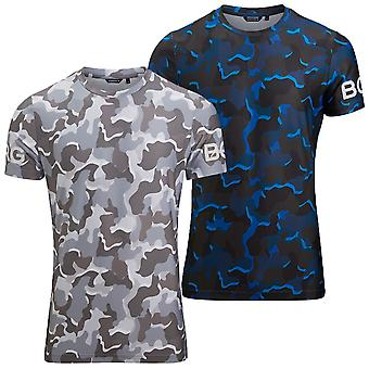 Bjorn Borg Mens Borg Imprimé Performance Hydro Pro Regular Fit T Shirt