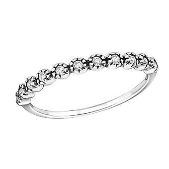 Eternity - 925 Sterling Silver Jewelled Rings - W32339X