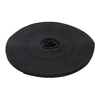 Self-wrap krog og loop tape sort-10mmx25m