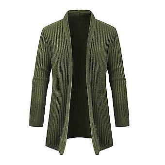 Allthemen mannen ' S revers Mid-Length thermische trui Cardigan