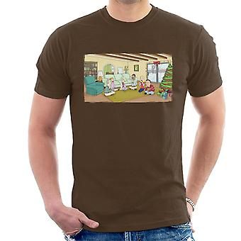 Rick and Morty Festive Family Bongos Men's T-Shirt