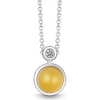 QUINN - Necklace - Silver - Diamond - Citrine - Wess. (H) - 27191911