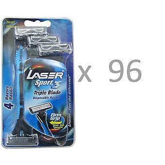 Tripple Blade Razor 96 x 4-pack Laser Sport3 for Men,  Wholesale