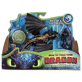 Dreamworks How To Train Your Dragon The Hidden World - Toothless and Hiccup, Armored Viking Figure