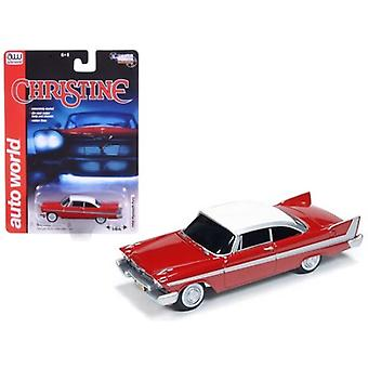 1958 Plymouth Fury \Christine\ 1/64 Diecast Car Model by Autoworld