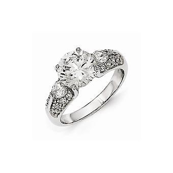 Cheryl M 925 Sterling Silver Aaa CZ Cubic Zirconia Gesimuleerde Diamond Ring Sieraden Geschenken voor vrouwen - Ring Grootte: 6 tot 8