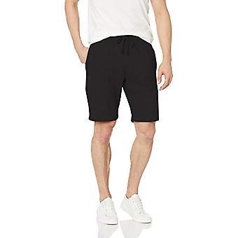 Starter Men's Double-Knit Fleece Short, Exclusive, Black, Large
