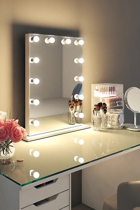 RGB Anastasia Audio White Edge Mirror (Moyen) Lumière du jour
