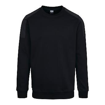Urban Classics Herren Sweatshirt Military Shoulder