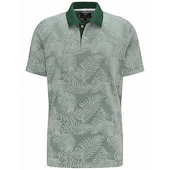 FYNCH HATTON Fynch Hatton Palm Print Polo Shirt