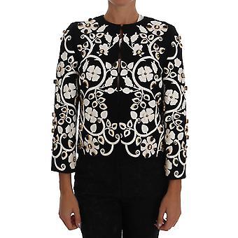 Dolce & Gabbana Black Baroque Floral Crystal Jacket
