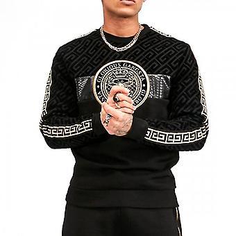 Glorious Gangsta Elian Black Crew Neck Logo Sweatshirt