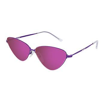 Balenciaga BB0015S 002 Violet/Violet Mirror Sunglasses