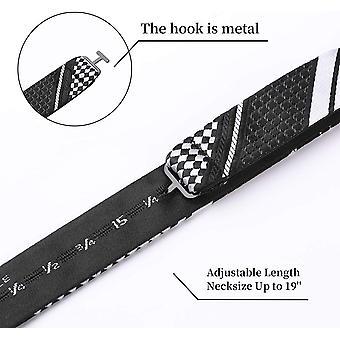SetSense Men's Plaid Jacquard Woven Self Bow Tie Set, MultiColor, Size One Size