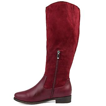 Brinley Co. Comfort Womens Two-Tone Riding Boot