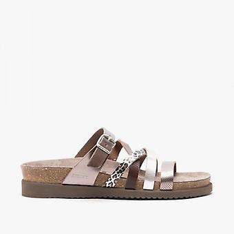 Mephisto Huleda Ladies Leather Mule Sandals Bronze