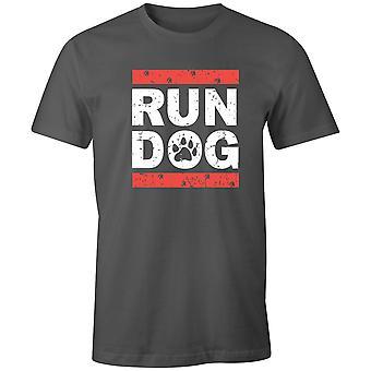 Boys Crew Neck Tee Short Sleeve Men-apos;s T Shirt- Run Dogs