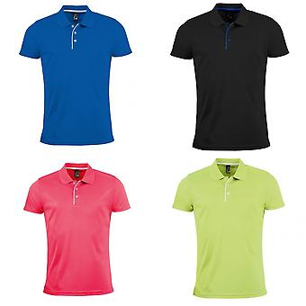 SOLS Mens Performer Short Sleeve Pique Polo Shirt