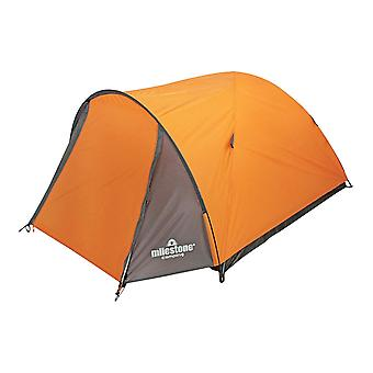Milestone 2 Man Super Dome Camping Tent Orange