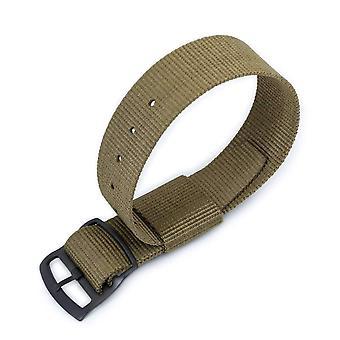 Strapcode n.a.t.o حزام ووتش 21mm miltat raf n7 حزام مراقبة الناتو، والأخضر العسكري، pvd أسود سلم قفل المنزلق مشبك
