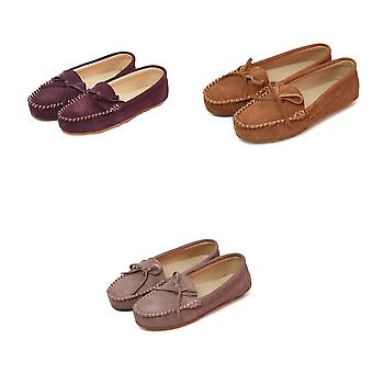 Eastern Counties Leather Womens/Ladies Suede Moccasins