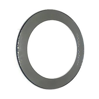 Calvin klein generic mineral glass, round, silver mirrored border, Ø32.50mm (0.80 to 3.00mm thick) generic c.k.
