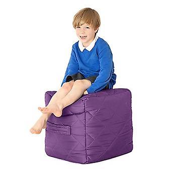 Fun!ture Paars gewatteerde waterbestendige Cube Bean Bag