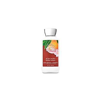(2 Pack) Bath & Body Works Pretty As A Peach Super Smooth Body Lotion 8 fl oz / 236 ml